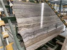 Silver Travertine Block Vein Cut Slab,Floor Paving Tile
