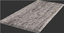 Silver Travertine Swimming Pool Coping Exterior Floor Tiles