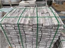 Tumbled Titanium Silver Travertine Cube Stone,Cobble Set