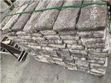 Tumbled Titanium Silver Travertine Cube Stone,Grey Stone Exterior Floor