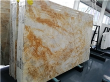 Interior Stone Dubai Gold Marble for Wall Covering