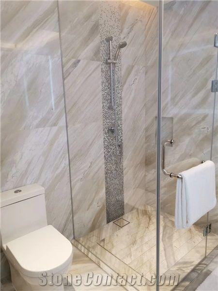 Earl White Marble Bathroom Tiles