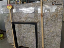 Cloudy Gold Marble Slab, Cloudy Grey Gold Marble