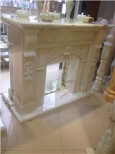 Cheap Chinese Hand Carved Stone Fireplace
