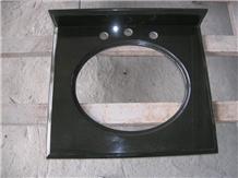 China Black Granite Bath Top / Costom Bathroom