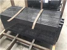 China Cheapest G654 Flamed Polished Black Granite