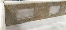China Granite Golden Crystal Bathroom Vanity Tops