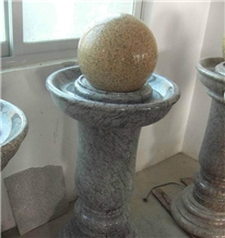 Chinese Granite Ball Sculptured Fountain Exterior