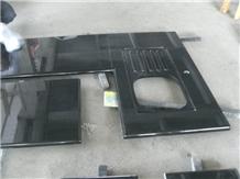 Chinese Shanxi Black Granite Bathroom Countertops