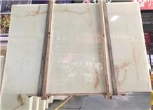 High Grade China Polished White Onyx Slabs