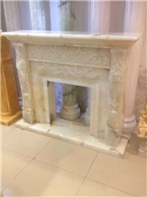 High Quality Indoor Decorated Stone Fireplace