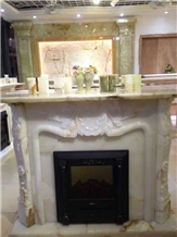 Victorian Style Natural Stone Fireplace Mantels