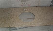 Yellow China Granite Vanity Top Bath Countertop