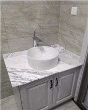 Bianco Persia Marble Bathroom Countertops