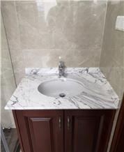 Bianco Persia Marble Bathroom Vanity Countertops