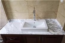 Bianco Persia Marble Bathroom Vanity Tops