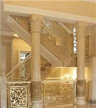 Crema Magna Marble Column Pillars