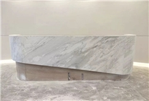 Grey Fleury Marble Reception Countertops Desk