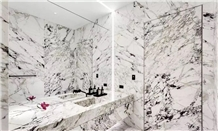 Macedonian White Marble Bathroom Countertops