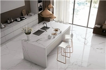 Majestic White Marble Kitchen Island Tops