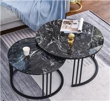 Marina Black Marble Reception Desk Tabletops
