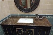 Mystic Brown Marble Bathroom Vanity Tops