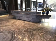 Royal Rose Grey Marble Reception Countertops