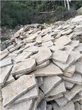 Yellow Granite G682 Flagstone Pavers,Crazy Pattern