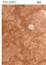 Rosso Karpato Marble Block