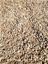 Rosso Karpato Marble Pebbles, Crushed Chips