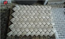 Basketweave Mosaic Tile Wall Pattern Decoration