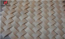 Small Basketweave Bathroom Wall Mosaic Tiles