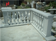 White Marble Baluster Railing