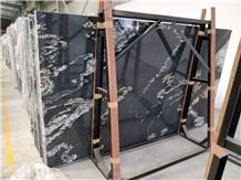 Alaska Black Granite Slabs