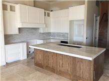 Quartzite Kitchen Countertops, Mitered Island Edge