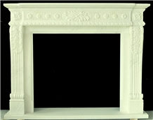 Marble Fireplace, Fangshan White