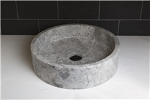 Grey Beige Sink, Tundra Grey Marble Wash Basins
