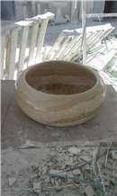 Honey Onyx Wash Basins