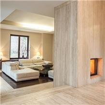 Light Travertine Vein Cut Tiles & Slabs, Beige Vc
