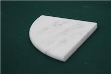 Mugla White Marble Shower Soap Dish Corner