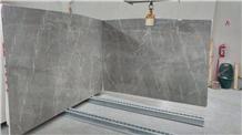 Grey Mocha Marble Slabs, Tiles