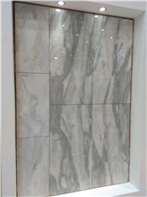 Lina White Marble Slabs, Tiles
