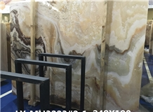 China Dragon Onyx Gold Color Slabs