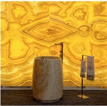 Mango Gold Onyx Slabs Yellow Onice