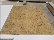 Gold Limestone Brushed Tiles
