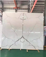 Nano White Phoenix White Glass Agglomerates Slabs