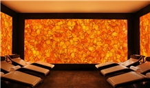 Gold Decoration Gemstone Wall Tile,Calcite Orange