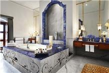Luxury Blue Lapis Lazuli Slab for Luxury Bathroom