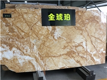 Amber Gold Marble Slabs&Tiles Cut-To-Size