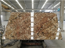 American Alaska Gold Granite Slab Wall Floor Tiles